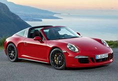 On a Detroit motor show premiere of the new sports car Porsche 911 Targa 4 GTS, issued in honor of the 50th anniversary of the line of cars Porsche 911 Targa.