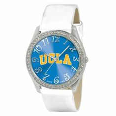 UCLA Bruins NCAA Ladies Glitz Series Watch by Game Time. $34.95. Metal case with 50 crystal stones. Brass dial. Patent leather strap. Stainless steel buckle. Available with official team logos this ladies watch features a patent leather strap. Features include a metal case with 50 crystal stones brass dial stainless steel buckle case back and crown. The watch is water resistant to 3 ATM (99ft) and comes with our Limited Lifetime Warranty
