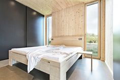 Summer House in Southern Burgenland by Judith Benzer Architektur; photo by Martin Weiß A Vienna-based architect Judith Benzer has recently completed this Modern Interior Design, Interior Design Inspiration, Interior Architecture, Simple Interior, Web Design, House Design, Barn Bedrooms, Sweet Home, A Frame House