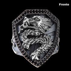 Anel de Prata Dragão - 32992