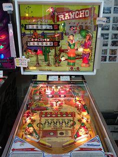 "1977 Rancho ""Williams ""Pinball Machine Arcade Games, Pinball Games, Flipper Pinball, Pinball Wizard, Penny Arcade, Arcade Machine, Gaming Computer, Game Room, Board Games"