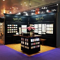 Lovely trade show booth by Wild Ink Press! Thanks for the folding wall concept!