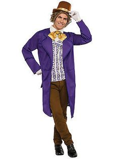 Men 52762: Adult Deluxe Charlie And The Chocolate Factory Willy Wonka Costume -> BUY IT NOW ONLY: $45.99 on eBay!