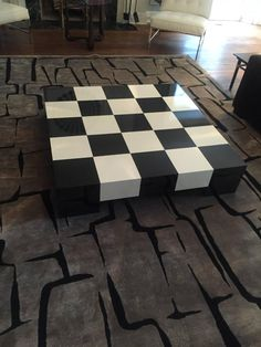Milo Baughman Checkerboard Lacquer Cocktail Table 2