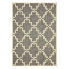 This modern trellis indoor outdoor area rug is made of polypropylene that is easy to clean and stain and mildew-resistant. This moroccan trellis outdoor and indoor rug promises durability and beautiful versatile colors that will match your decor.