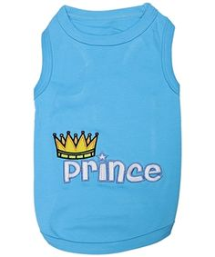 "A princely puppy deserves only the finest, fancy dog clothes, and this top-of-the-line, comfortable top completely fits the bill. This cute Parisian Pet® ""Prince"" shirt is perfect for those little pampered ones."