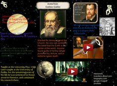 His contributions to observational astronomy include the telescopic confirmation of the phases of Venus, the discovery of the four largest satellites of Jupiter (named the Galilean moons in his honour), and the observation and analysis of sunspots. Galileo also worked in applied science and technology, inventing an improved military compass and other instruments. #Glogster #GalileoGalilei
