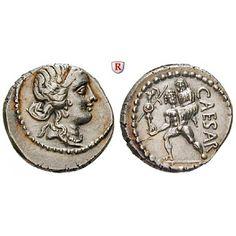Römische Republik, Caius Iulius Caesar, Denar 47-46 v.Chr., vz/vz-st: Caius Iulius Caesar 100-44 v.Chr. Denar 47-46 v.Chr. Mzst. in… #coins