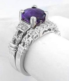 My dream wedding ring set...only needs to have princess cut instead of round cut