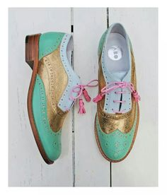 ABO brogues by Iva Ljubinkovic #abo #brogues #oxfords #shoes #mint
