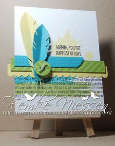 made by femke niessen. layout from a card from pinterest. stamps and dienamics: My Favorite Things.