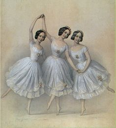 ∴ Trios ∴ the three graces & groups of 3 in art and photos - Pas de Trois Ballerina Kunst, Vintage Ballerina, Vintage Ephemera, Vintage Cards, Vintage Pictures, Vintage Images, Vintage Prints, Vintage Posters, Vintage Graphic
