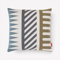 Maharam - Palio Pillow 002 Sky (Diagonal Stripe) by Alexander Girard