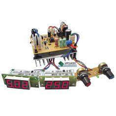 Fonte ajustável 30V por 5A com Voltímetro e Amperímetro