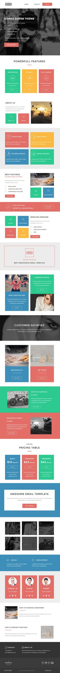 Stork - Multipurpose Responsive Email Template + Stampready - business email template
