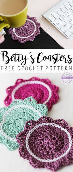 Betty's Coasters | Summer Kitchen Series | Free Crochet Pattern from Sewrella