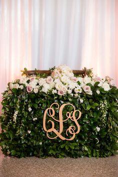 Sweetheart Table Monogram -- Monogram Wedding Inspiration - Style Me Pretty