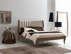 L'Officina Nouveau Modern Italian Designer American Walnut Bed
