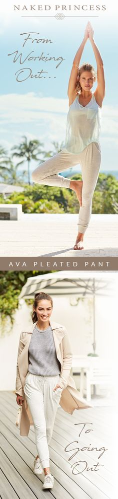From Working Out To Going Out | Naked Princess Ava Pleated Pant | Get Athleisure