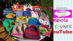 Crochet Tutorial GRATIS en YouTube por Maricita Colours!! gorros