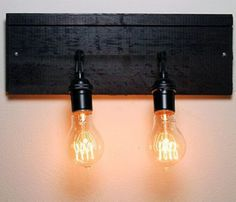 Industrial Wall Sconce - easy way to add some charm to the bedroom.