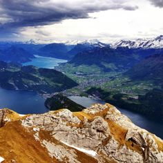 View from Mount Pilatus, Lucerne