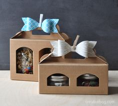 love these boxes for mason jars!