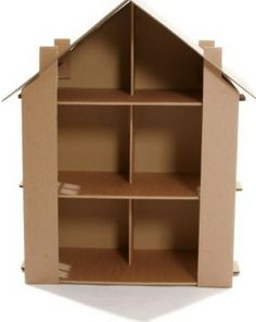 Diy Cardboard Box Toy House Toys Window And Dollhouses