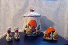 Vintage Cookie Jar set salt n pepper shaker by ChristinaireDesigns, $59.00