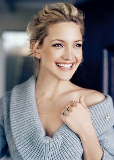 Kate Hudson. Love the natural look, soft colors, she glows.