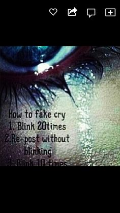 Let's see if this actually works i bet it doesn't but whatever. How To Fake Cry, Just Do It, Just In Case, Sup Girl, 4 Panel Life, Funny Quotes, Funny Memes, Hilarious, Dankest Memes