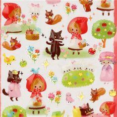cute Little Red Riding Hood sticker Fairy Tale World - Sticker ...