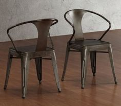 Amazon.com - Vintage Tabouret Stacking Chair (Set of 4), Steel, Brown, Metal, Dining Room Chairs - Chairs