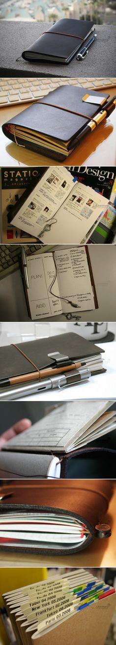 Midori Traveler's 真皮笔记本 五周年 限量版 标准型 驼色