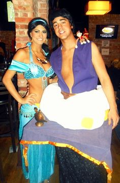 We have find out some awesome costume which can be perfect for you on this festival. Have a look these beautiful Halloween Costumes For Couples. Cool Couple Halloween Costumes, Halloween Dress, Cool Costumes, Adult Costumes, Costume Ideas, Matching Couple Outfits, Matching Couples, Jasmine Costume, Aladdin And Jasmine