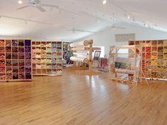 Ulrika Leander, another Swedish tapestry artist's studio.  More walls of yarn!