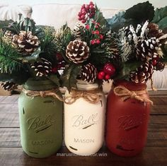 Lovely 50 Beautiful Rustic Home Decor Project Ideas You Can Easily DIY Rustic mason jars that add style during every holiday year with their simplistic decor touch. I started these ho ..
