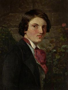 "Self Portrait  by Walter Howell Deverell   (1827–1854) c.1849.  He and Rossetti shared a studio in 1851. It was Deverell who ""discovered"" Elizabeth Siddal."