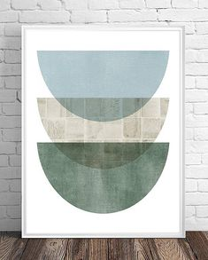 Gallery wall set Geometric print set set of 8 prints Graphic Design Art, Modern Geometric Art, Modern Art Prints, Abstract Painting, Green Art, Art Gallery Wall, Design Art, Minimal Art, Blue Green Art