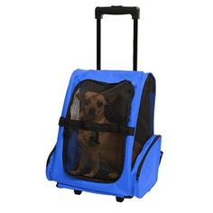 """Travel Backpack for Dogs and Cats with Wheels. ****Ships From The United States***  Description: Dimensions:13""""L X 10""""W X 19""""H Good for airline carry on travel Side pockets allow for storage of some small pet supplies product Mesh front door to keep your pet safe and easy Easy to carry out with wheels  Easily and has an ergonomically-contoured back with padded shoulder straps which can be hidden Put your car's seat belt across the two belt in the back of carrier to fasten it-Travel…"""