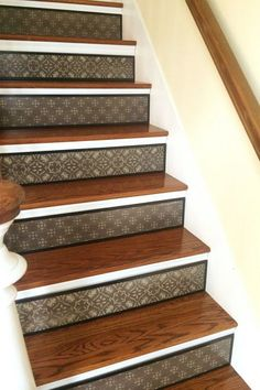 Alternative to Stair Riser Decals Stair Stencils and Stair