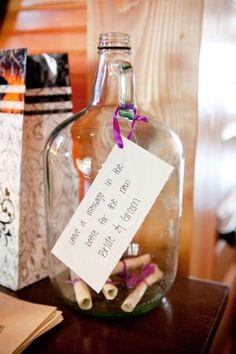 mensaje en una botella alternativa boda libro de visitas por sophia