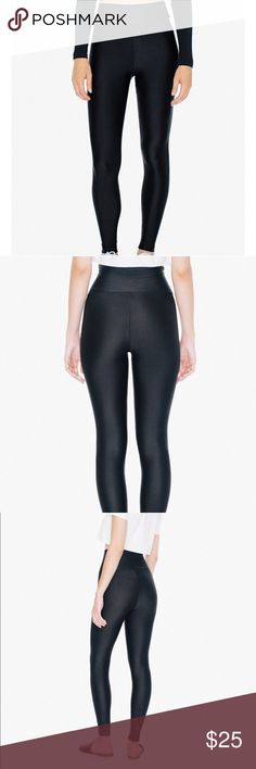 American Apparel tricot leggings American apparel tricot black leggings - sz L - only lightly worn twice, just the wrong size and waited too long to return - high waist American Apparel Pants Leggings
