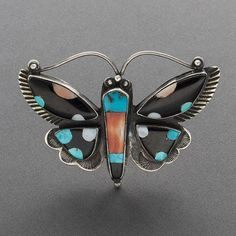 1940 Zuni Inlaid Butterfly