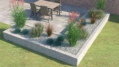 "Drywall ""Siola leicht"" as a bedding border - Terrasse und Garten - Garden Decor Modern Landscaping, Backyard Landscaping, Garden Planner, Diy Garden Projects, Balcony Garden, Raised Garden Beds, Raised Beds, Outdoor Gardens, Landscape Design"