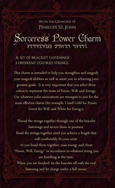 Magick Spells: Sorceress Power Charm #Spell.