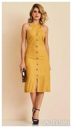 Look book 10 – cora canela Elegant Dresses, Cute Dresses, Casual Dresses, Fashion Dresses, Moda Outfits, Schneider, Linen Dresses, African Dress, Dream Dress