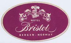 Hotel Bristol Bergen luggage sticker