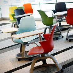 Steelcase, Node Chairs--I saw these at the MACUL conference and actually wanted them for my home. They're pretty cute, as well as looking functional.   #activelearning #movingfurniture #classroomdesign