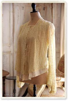 Викторианский кружева куртка - [Белл Lurette] Европа Франция античный кружева белье одежда почте